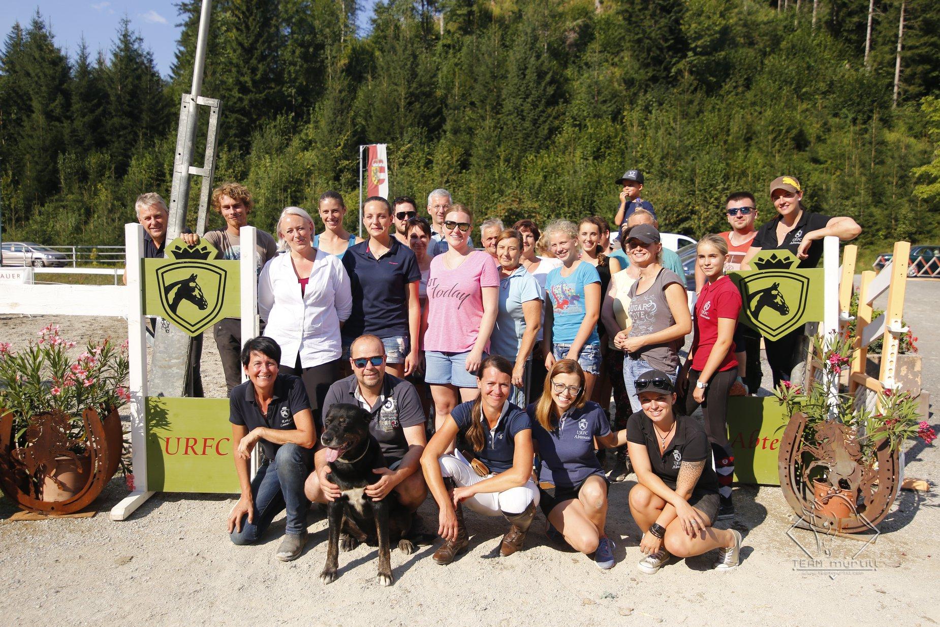 Mitglieder des URFC Abtenau beim CDN-C Abtenau im August 2018